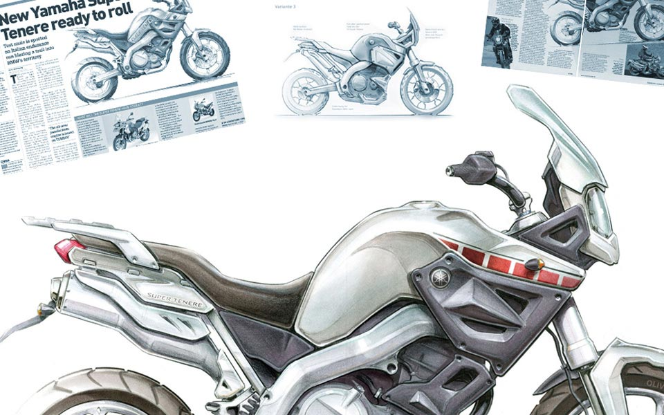 Super Tenere illustration for Motorrad Magazin
